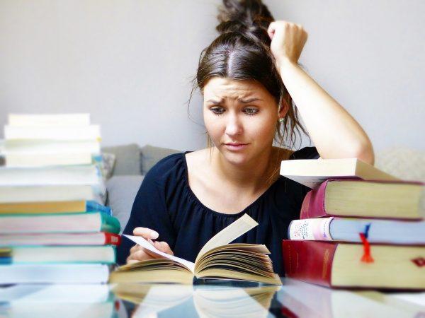 books, woman, girl